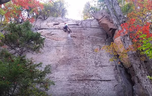 Watch This Rock Climber Nearly Hit the Ground