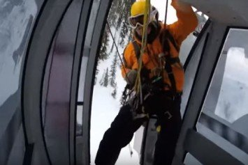 Skiers Capture Helicopter Rescue on Video