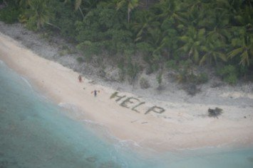 Castaways Rescued from Deserted Island Like a Movie