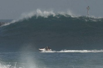 Wave Mows Down Couple on Jet Ski at Newport's Wedge
