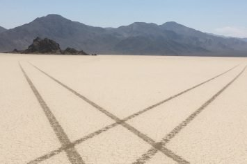 Driver ID'd Who Defaced Death Valley Dry Lake Bed