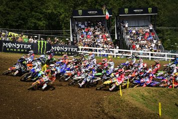 Motorcycle Falls from Sky at Motocross of Nations Final