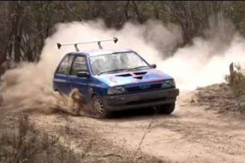 Watch Two Crazy Aussies Launch a Ford Festiva into a Pond